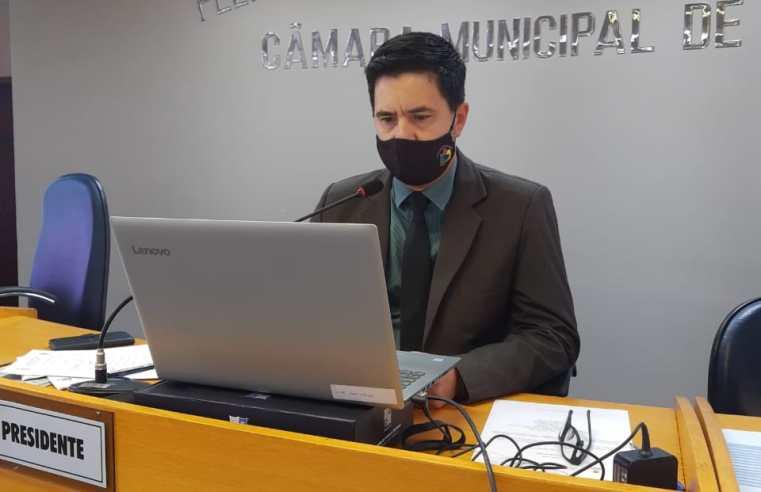 O ano da Câmara de Vereadores foi com sessões online durante a pandemia