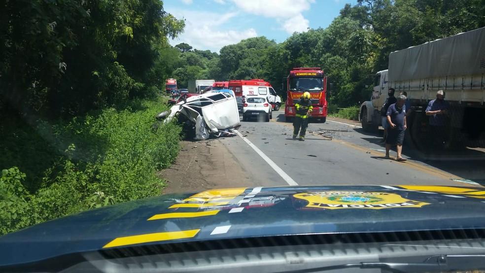 Duas pessoas morrem em acidente na BR-285, em Passo Fundo