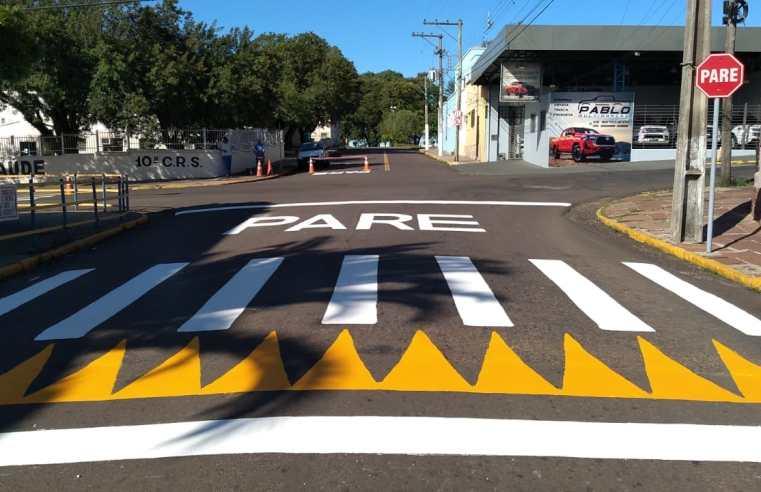 Trânsito interrompido em trecho da rua General Sampaio nesta sexta-feira