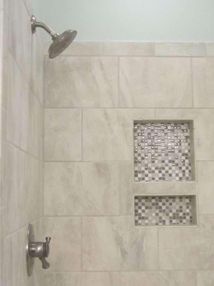 bathroom remodeling glass mosaic tile
