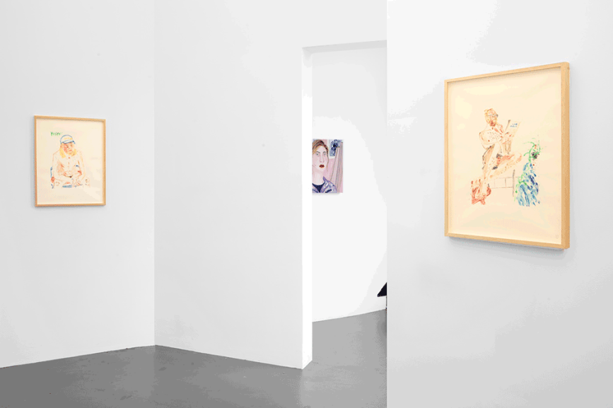 Installation view - People in the room_-Island, Brussels