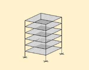 En cada nivel tiene un sistema de techo o piso rígido y resistente