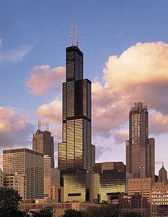 """Torre Sears, edificio con sistema """"Multitubo"""""""