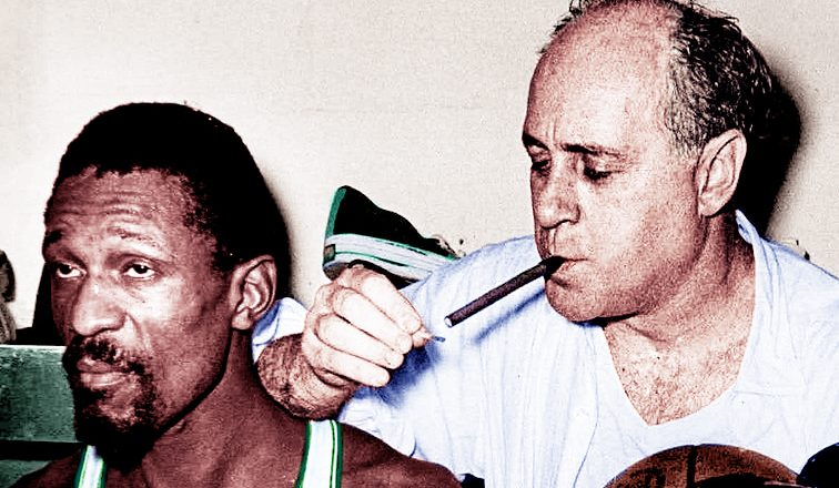 Red Auerbach and Bill Russell, Boston Celtics