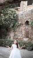 Reportaje de comunión en la Alhambra de Granada.