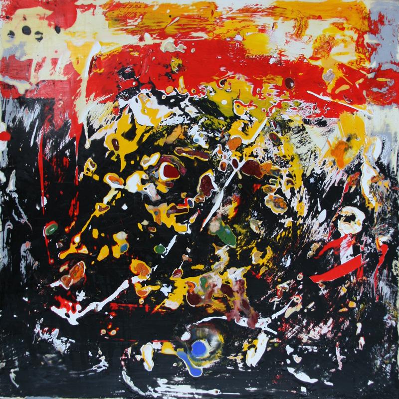 encaustic painting #3 -  18 x 18