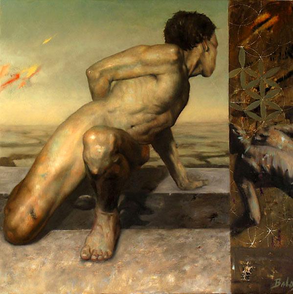 The Gaurdian, oil painting