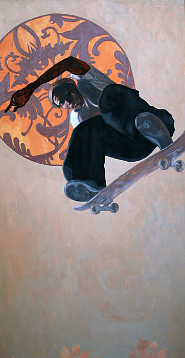 limitless, oil painting on wood