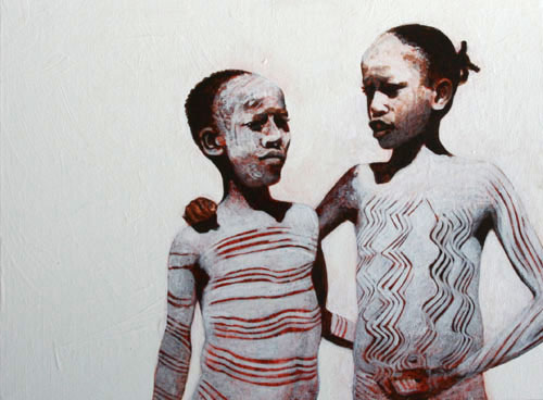 two_boys, oil painting