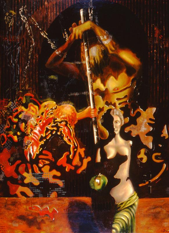 tribute to dali - oil on canvas - 32 x 46