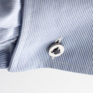 Davide Solazzi - Double Sided 925/1000 Silver Cufflinks with Iolites