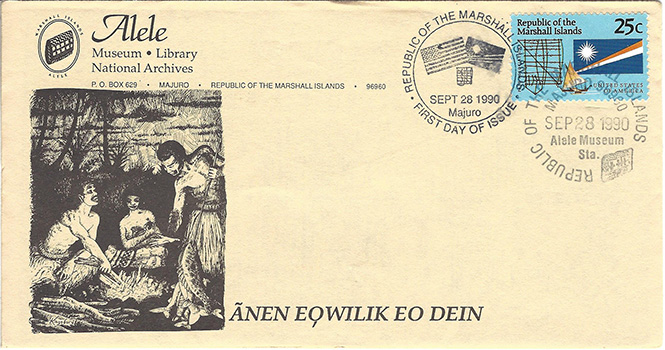 Alele Postal Sub-Station First Day Cover - Anen Eqwilik Eo Dein