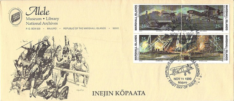 Alele Postal Sub-Station First Day Cover - Inejin Kopaata - Nov 11 1990