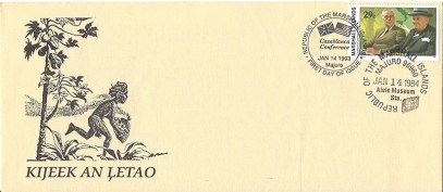 Alele Postal Sub-Station First Day Cover - Kijeek An Letao - Jan 14 1984