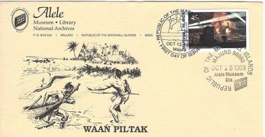 Alele Postal Sub-Station First Day Cover - Waan Piltak - Oct 13 1989