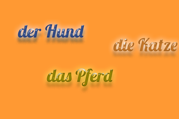 El artículo y el género de los nombres en alemán