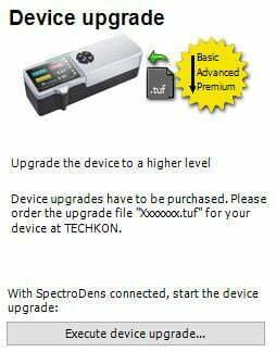 atualização de EspectroDensitômetro