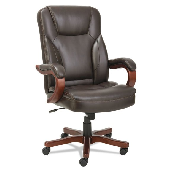 Alera® Transitional Series Executive Wood Chair, Chocolate ...