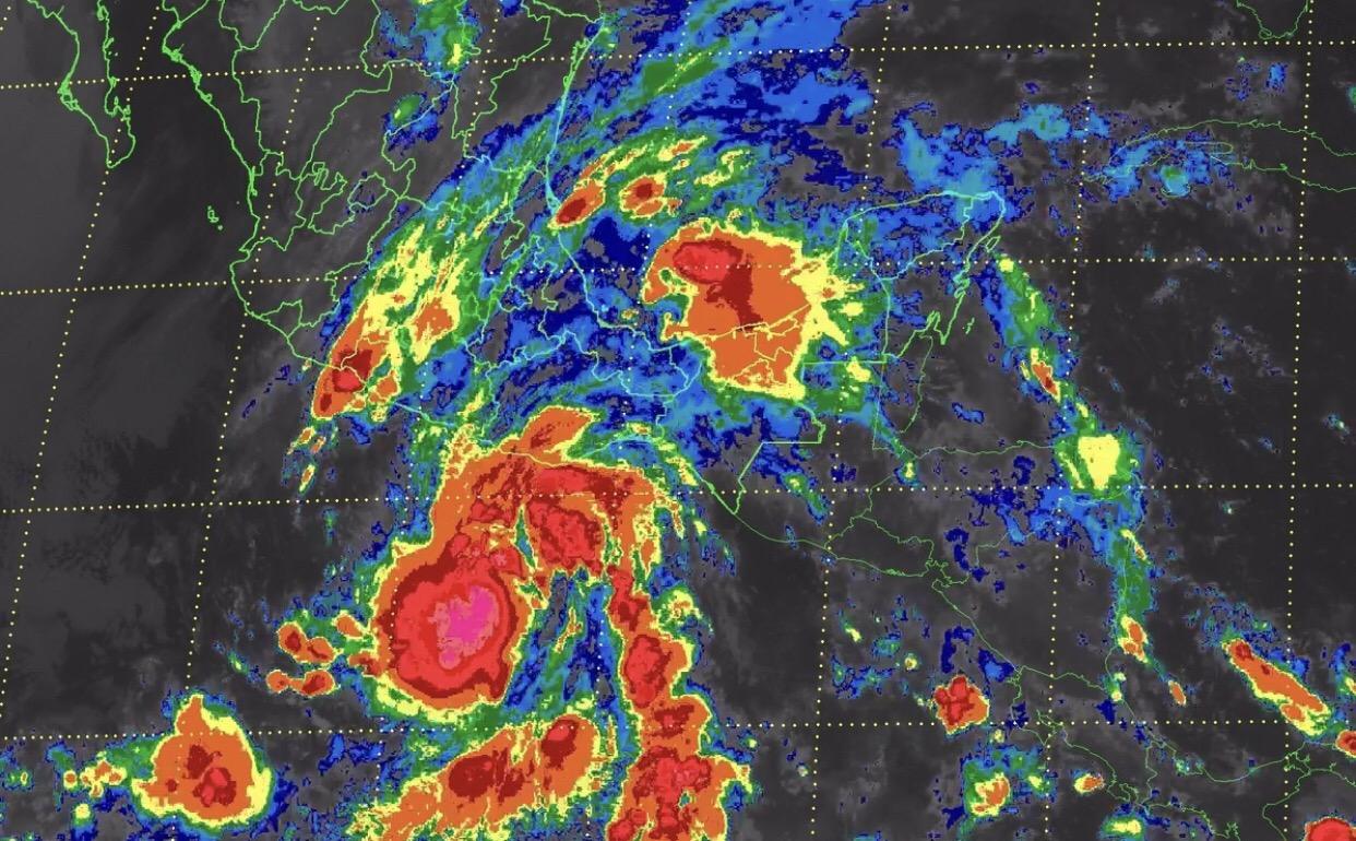 Depresión tropical 2-E en el Pacífico generará fuertes lluvias