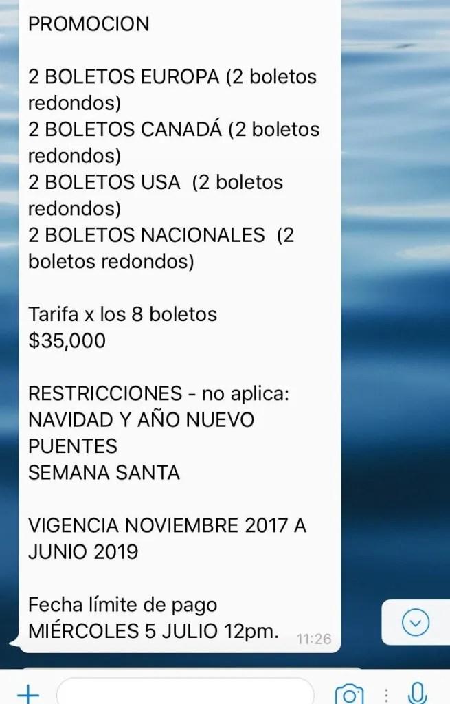 Venta de boletos de avion por Whatsapp, el nuevo método de fraude en México 1366 2000 9