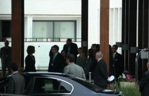 Sofía, a su llegada a una reunión del club Bilderberg.