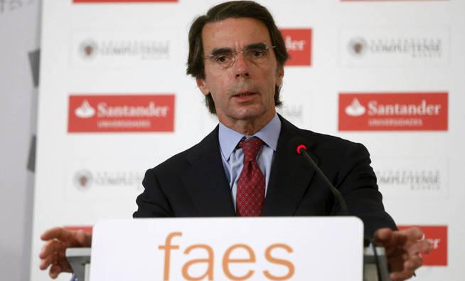 El expresidente del Gobierno y presidente de FAES, José María Aznar.