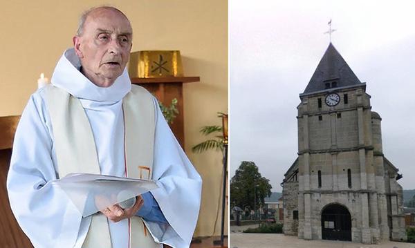 El padre Jacques Hamel fue asesinado por yihadistas en la iglesia de Saint-Étienne-du-Rouvray.
