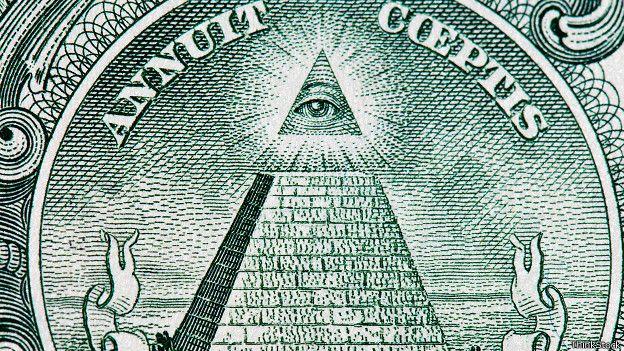 La pirámide con ojo, en el dólar americano