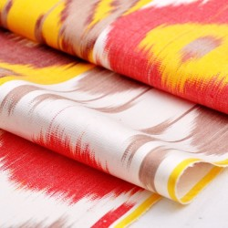 yellow orange ikat