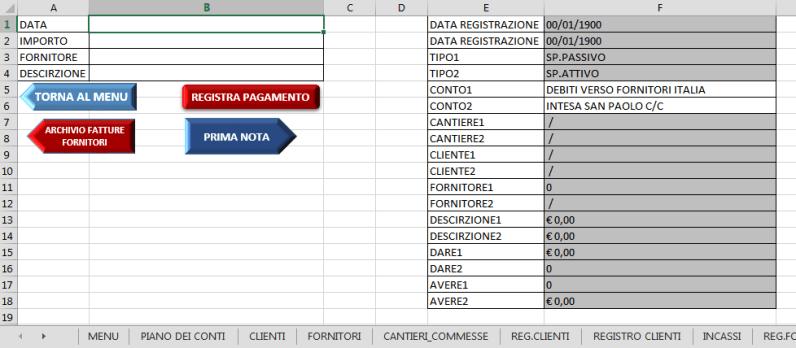 REGISTRAZIONE PAGAMENTI - GESTIONALE EXCEL V_3