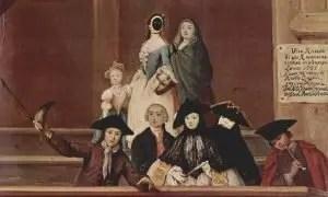 La bautta, in un famoso quadro di Pietro Longhi