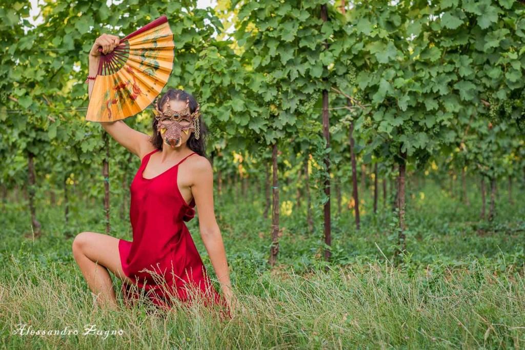 servizio fotografico di danza nella natura dei Colli Euganei