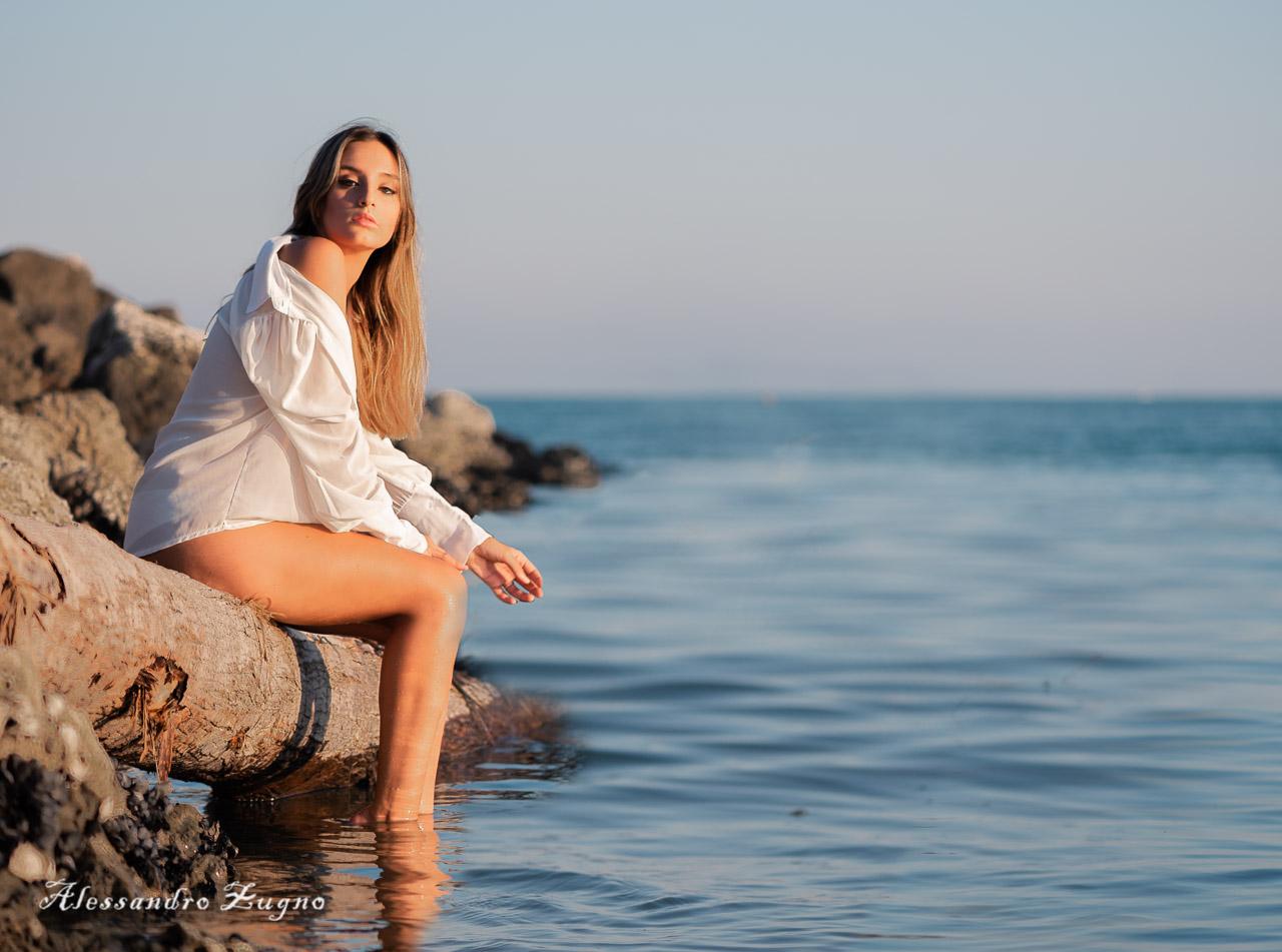 servizio fotografico nella spiaggia di Jesolo