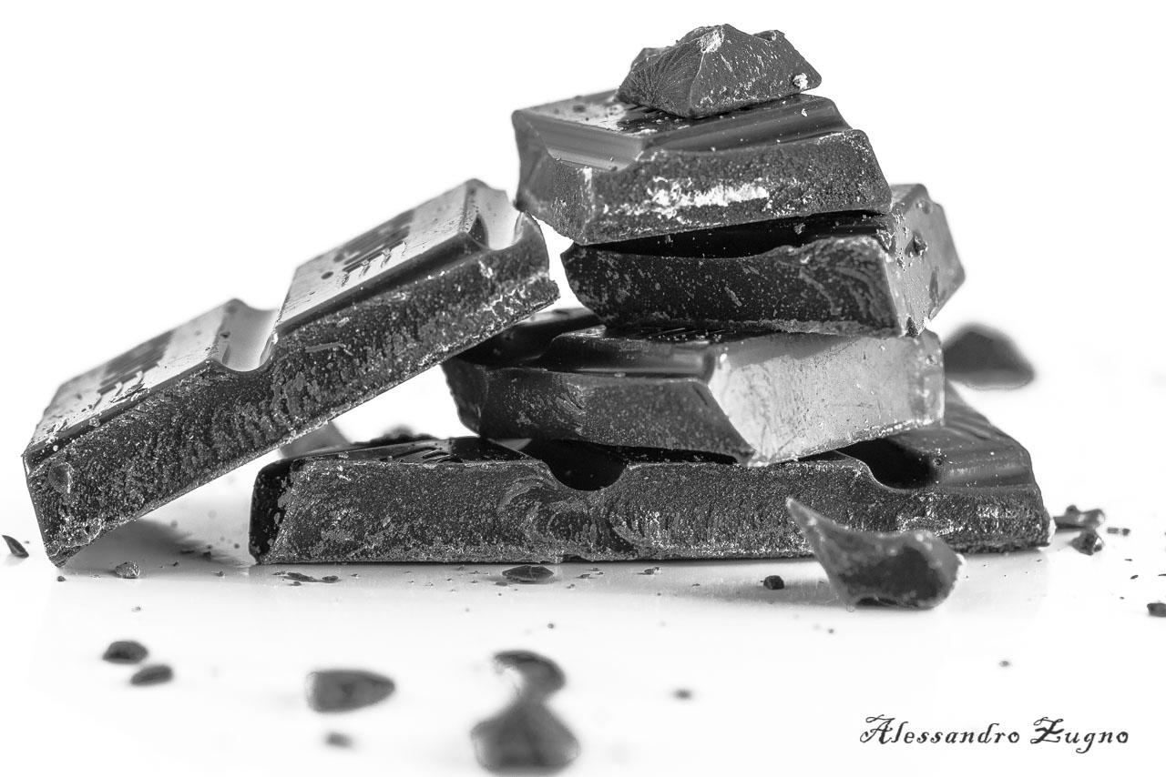 foto food in bianco e nero di cioccolato