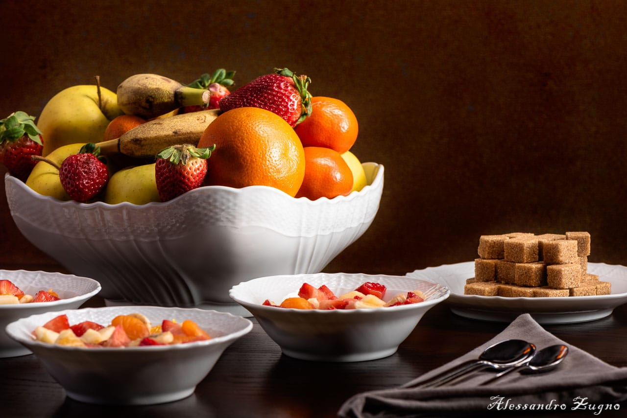 macedonia di frutta food foto