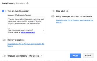 programmare l'invio delle email in futuro tools per startup Boomerang