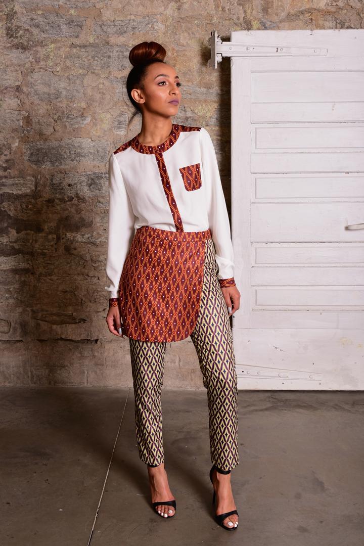 fashion prints, saintola, patterns, dress, trousers,