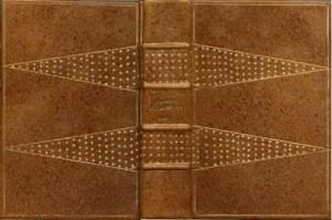 B. Russel  - Storia della filosofia occidentale Legatura in cuoio  tinto a mano  e decorazione a pallini oro