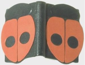 M. Chinfry – Insetti Legatura in zigrino nero e capretto rosso, piatti sagomati con rilievi e con trafori