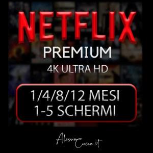 Account Netflix Premium 4K 1080 1-12 MESI