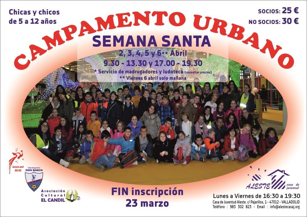 Abierta Inscripción Campamento Urbano Semana Santa