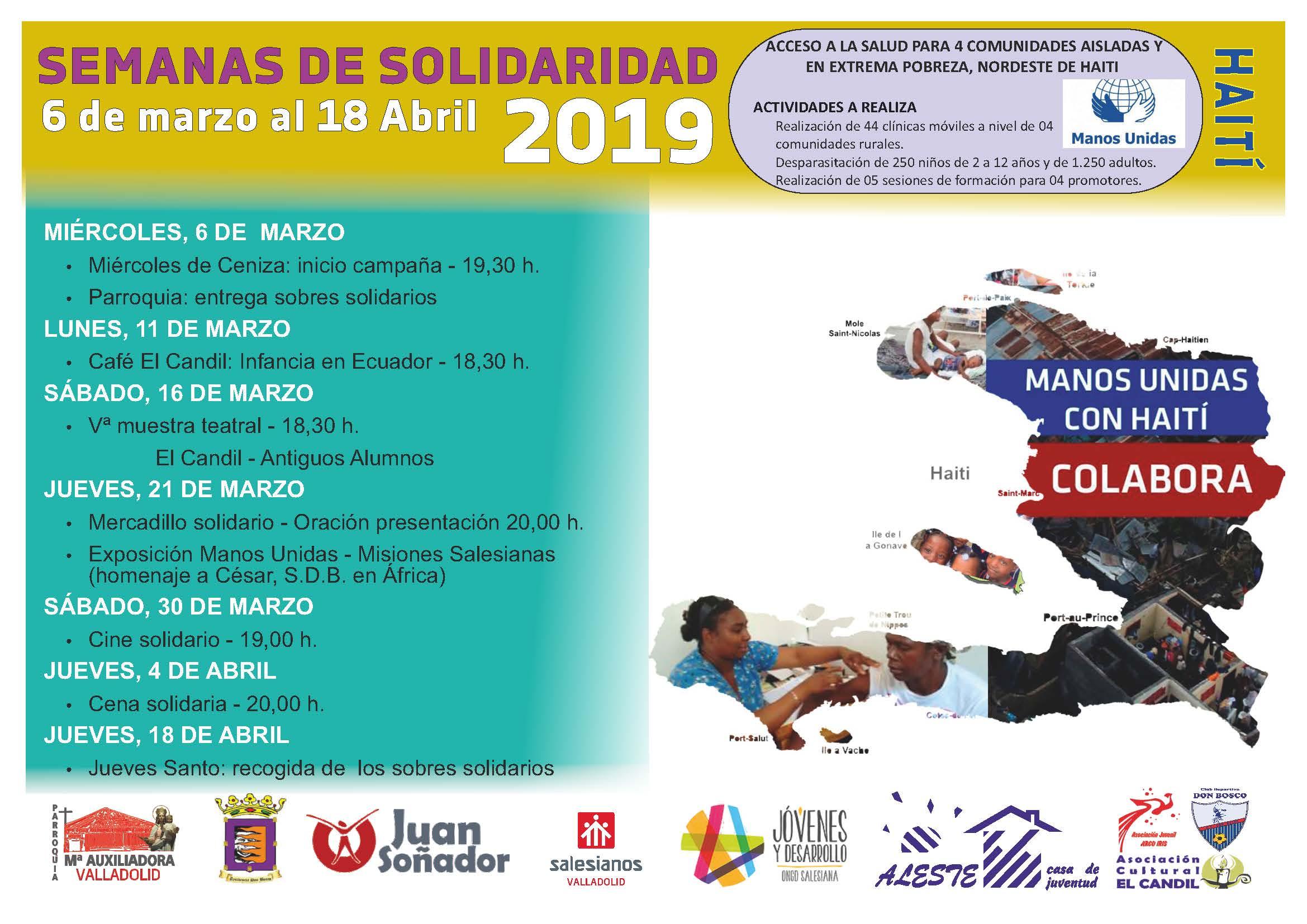 SEMANAS DE SOLIDARIDAD – CUARESMA SOLIDARIA 2019
