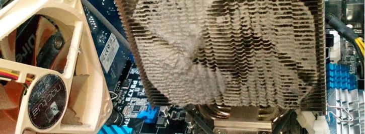 EWin völlig verstaubter CPU Kühler