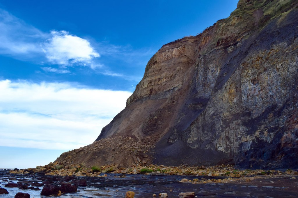 A land slide at Port Mulgrave, Yorkshire and Cleveland Heritage Coast.