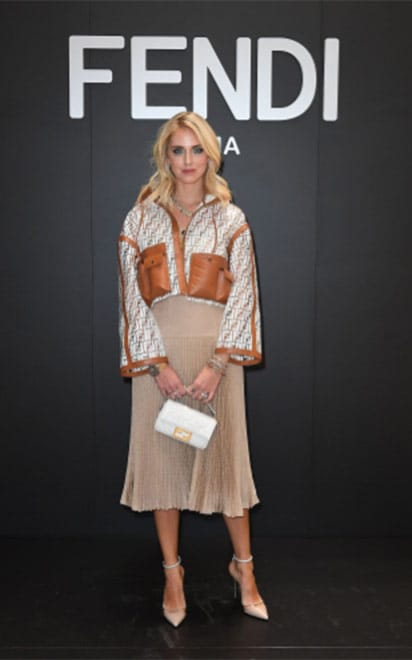 Chiara Ferragni wearing Alevì Milano shoes