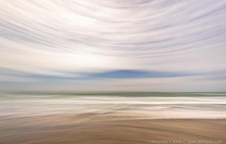 Abstract photo, long exposure panning with wide angle lens