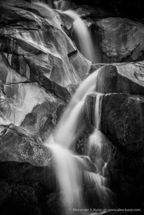 Detail of Kitchen Creek Falls near Buckman Springs in San Diego's Mountain Empire region, California. March 2014.