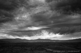 Wild monsoon clouds in the sky at Valle de San Jose, near Warner Springs, California. August 2014.