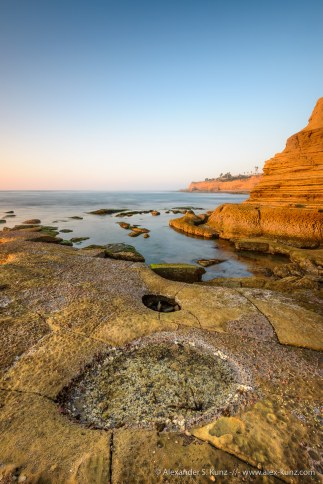 Hidden Beach tide pools, Sunset Cliffs, San Diego, CA.
