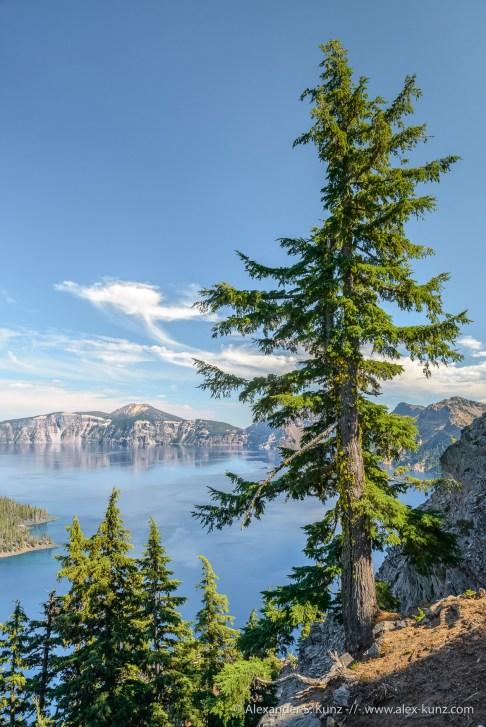 First Look at Crater Lake from Discovery Point, Crater Lake National Park, Oregon, United States